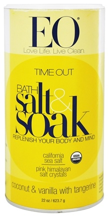 DROPPED: EO Products - Bath Salts Time Out Vanilla & Coconut with Tangerine - 22 oz.