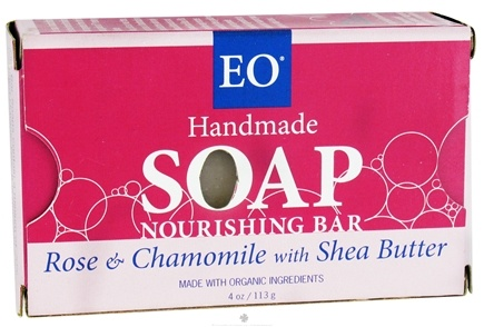 DROPPED: EO Products - Handmade Soap Nourishing Bar Rose & Chamomile with Shea Butter - 4 oz.