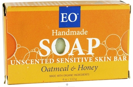DROPPED: EO Products - Handmade Soap Unscented Sensitive Skin Bar Oatmeal & Honey - 4 oz.