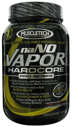 DROPPED: Muscletech Products - naNO Vapor Hardcore Pro Series Fruit Punch - 3 lbs. CLEARANCE PRICED