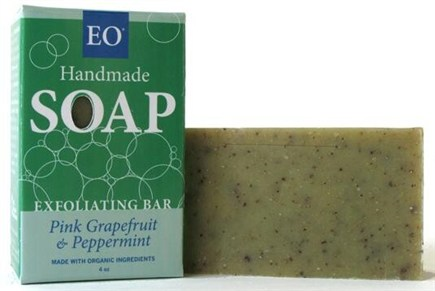 DROPPED: EO Products - Handmade Soap Exfoliating Bar Pink Grapefruit & Pepppermint - 4 oz.
