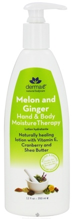 DROPPED: Derma-E - Hand & Body Moisture Therapy Lotion Melon & Ginger - 12 oz. Formally Ultimate Moisture - CLEARANCE PRICED