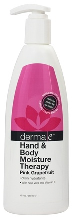 DROPPED: Derma-E - Hand & Body Moisture Therapy Pink Grapefruit - 12 oz. (Formerly Lotion Ultimate Moisture)