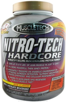 DROPPED: Muscletech Products - Nitro-Tech Hardcore Triple Chocolate Milkshake - 4 lbs.