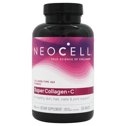 NeoCell - Super Collagen +C Tablets 6000 mg. - 250 Tablets