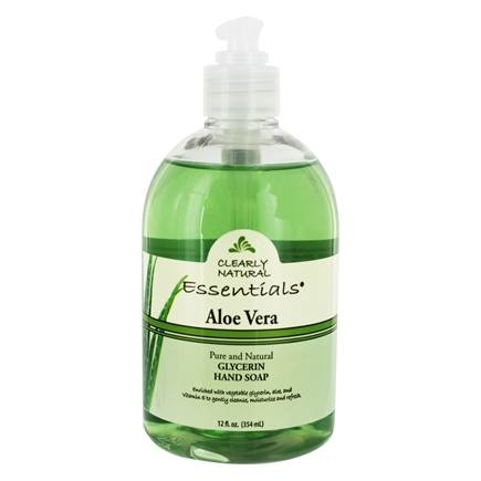 DROPPED: Clearly Natural - Liquid Glycerine Soap with Pump Aloe Vera - 12 oz. CLEARANCE PRICED