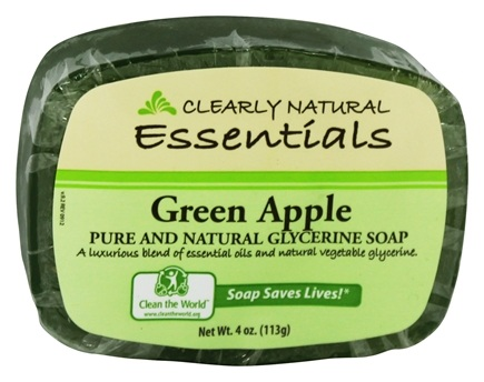 DROPPED: Clearly Natural - Glycerine Soap Bar Green Apple - 4 oz.