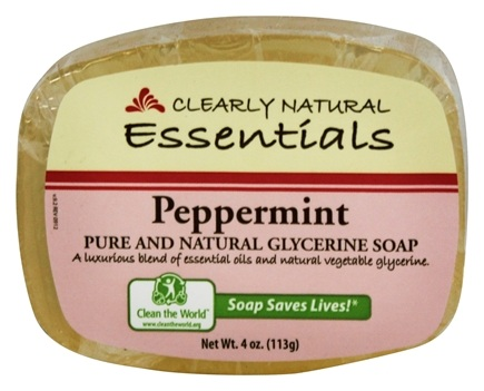 Clearly Natural - Glycerine Soap Bar Peppermint - 4 oz.
