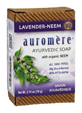Auromere - Ayurvedic Bar Soap with Organic Neem Lavender-Neem - 2.75 oz.