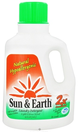 DROPPED: Sun & Earth - Laundry Detergent 2x Concentrated Light Citrus Scent (26 Loads) - 50 oz.
