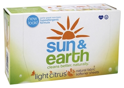 Sun & Earth - Fabric Softener Sheets Fresh Citrus - 80 Sheet(s)