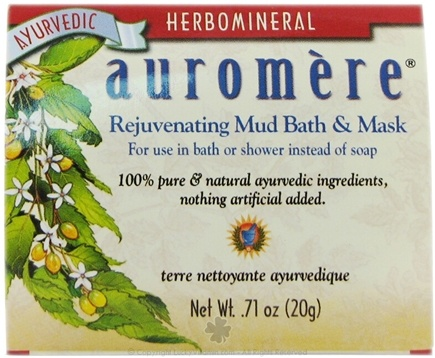 DROPPED: Auromere - Herbomineral Rejuvenating Mud Bath & Mask - 0.71 oz. CLEARANCE PRICED