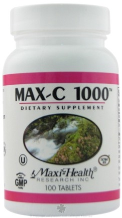 DROPPED: Maxi-Health Research Kosher Vitamins - Max-C 1000 - 100 Tablets CLEARANCE PRICED