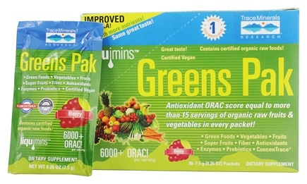 Trace Minerals Research - Greens Pak To Go Berry - 30 Packet(s)