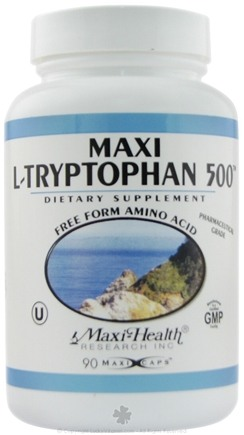 DROPPED: Maxi-Health Research Kosher Vitamins - Maxi L-Tryptophan 500 Free Form Amino Acid - 90 Capsules