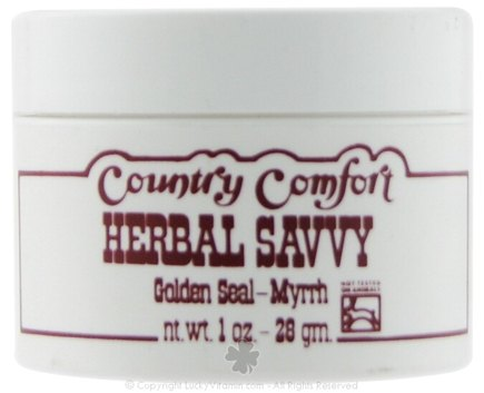 DROPPED: Country Comfort Herbals - Herbal Savvy Golden Seal-Myrrh - 1 oz. CLEARANCE PRICED