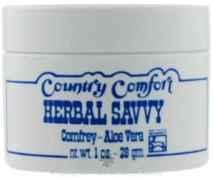 DROPPED: Country Comfort Herbals - Herbal Savvy Comfrey-Aloe Vera - 1 oz. CLEARANCE PRICED