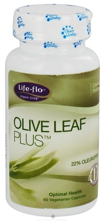 DROPPED: Life-Flo - Olive Leaf Plus - 60 Vegetarian Capsules CLEARANCED PRICED