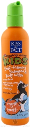 DROPPED: Kiss My Face - Kids Self-Foaming Shampoo & Body Wash Orange U Smart - 8 oz.