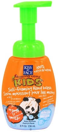 DROPPED: Kiss My Face - Kids Self-Foaming Hand Wash Orange U Smart - 8 oz. CLEARANCE PRICED