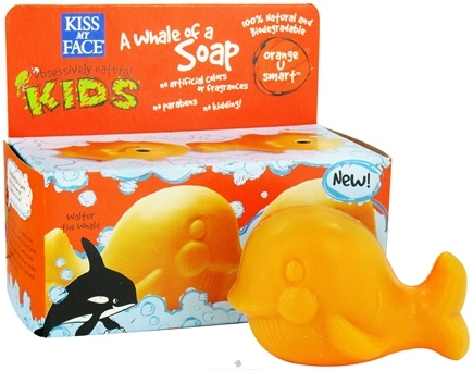 DROPPED: Kiss My Face - Kids A Whale of a Soap Twin Pack Orange U Smart - 7 oz.