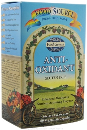 DROPPED: Solaray - Food Source Antioxidant CLEARANCE PRICED - 60 Vegetarian Capsules