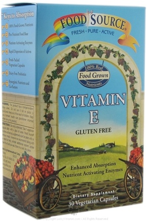 DROPPED: Solaray - Food Source Vitamin E CLEARANCE PRICED - 30 Capsules