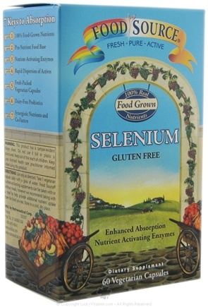 DROPPED: Solaray - Food Source Selenium - 60 Vegetarian Capsules CLEARANCE PRICED
