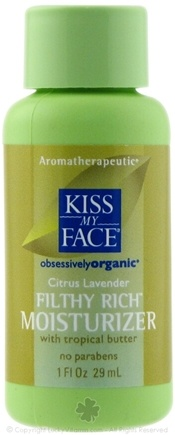 DROPPED: Kiss My Face - Filthy Rich Moisturizer Citrus Lavender - 1 oz.
