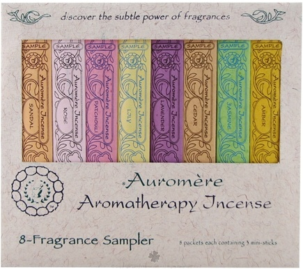 DROPPED: Auromere - Aromatherapy Incense 8 Fragrance Sampler - 8 Packet(s) CLEARANCE PRICED