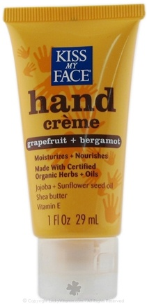 DROPPED: Kiss My Face - Obsessively Organic Certified Organic Hand Creme Grapefruit & Bergamot - 1 oz.