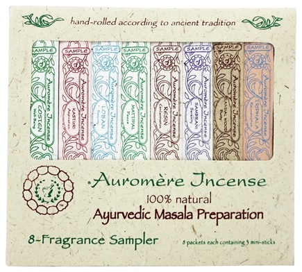 Auromere - Ayurvedic Incense 8 Fragrance Sampler - 8 Packet(s)