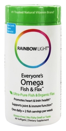 Rainbow Light - Everyone's Omega Fish & Flax Oil - 60 Softgels
