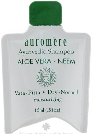 DROPPED: Auromere - Aloe Vera-Neem Shampoo - 0.51 oz. CLEARANCE PRICED