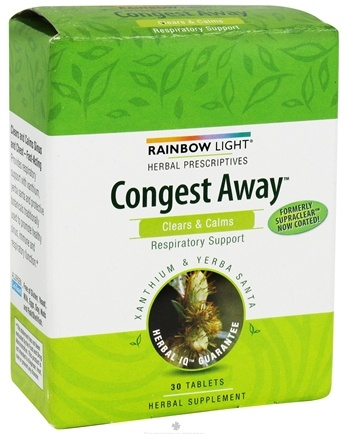 DROPPED: Rainbow Light - Congest Away - 30 Tablets Formerly SupraClear Sinus & Chest