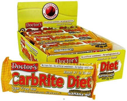 DROPPED: Universal Nutrition - Doctor's CarbRite Diet Bar Chocolate Banana Nut - 2 oz.