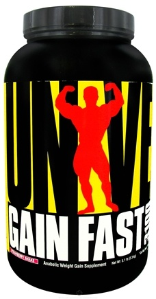DROPPED: Universal Nutrition - Gain Fast 3100 Strawberry Shake - 5.1 lbs. CLEARANCE PRICED