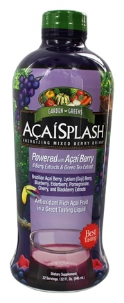 DROPPED: Garden Greens - AcaiSplash Energizing Mixed Berry Drink Mix - 30 oz.