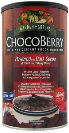 DROPPED: Garden Greens - ChocoBerry Super Antioxidant Cocoa Drink Mix - 700 Grams