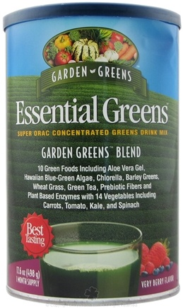DROPPED: Garden Greens - Essential Greens Garden Greens Blend Very Berry Flavor - 498 Grams