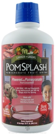 DROPPED: Garden Greens - PomSplash Pomegranate Fruit Drink - 32 oz.