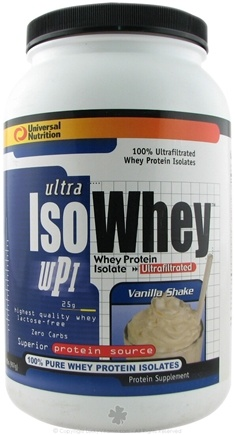DROPPED: Universal Nutrition - Ultra Iso Whey CLEARANCE PRICED Vanilla Shake - 2 lbs.
