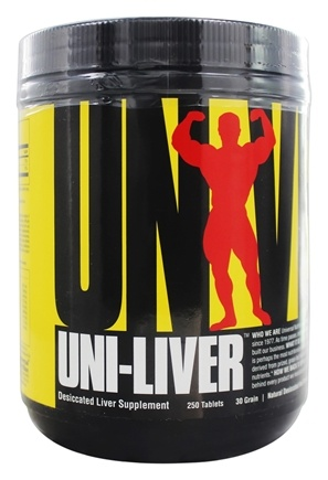 DROPPED: Universal Nutrition - Uni-Liver Desiccated Liver Supplement - 250 Tablets