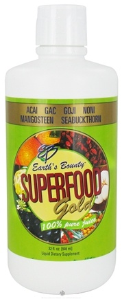 DROPPED: Earth's Bounty - Superfood Gold 100% Pure Juice Plastic Bottle - 32 oz. CLEARANCE PRICED