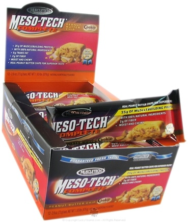 DROPPED: Muscletech Products - Meso-Tech Complete Bar Peanut Butter Chip - 3 oz.