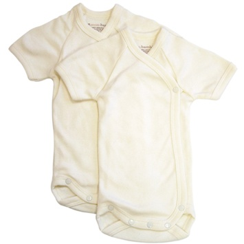 DROPPED: Piccolo Bambino - Baby Bodysuit 0-3 Months Ivory - 2 Pack(s) CLEARANCE PRICED