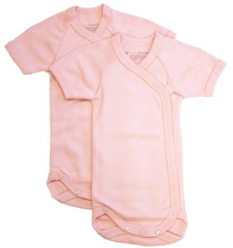 DROPPED: Piccolo Bambino - Baby Bodysuit 3-6 Months Pink - 2 Pack(s) CLEARANCE PRICED