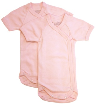 DROPPED: Piccolo Bambino - Baby Bodysuit 6-9 Months Pink - 2 Pack(s) CLEARANCE PRICED