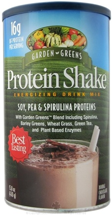 DROPPED: Garden Greens - Protein Shake Energizing Drink Mix Double Chocolate Flavor - 450 Grams