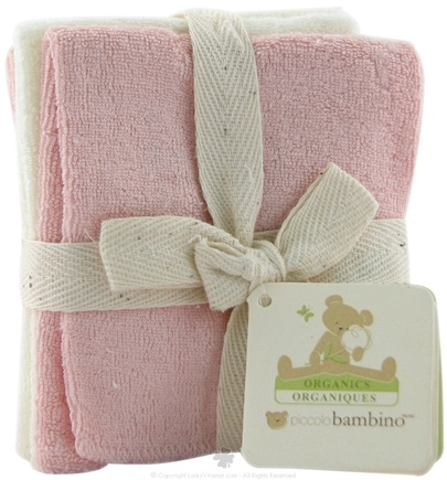 DROPPED: Piccolo Bambino - Organic Baby Washcloths Pink - 6 Pack(s)